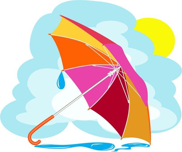600x503 Cartoon Colored Umbrella Vector Graphics My Free Photoshop World