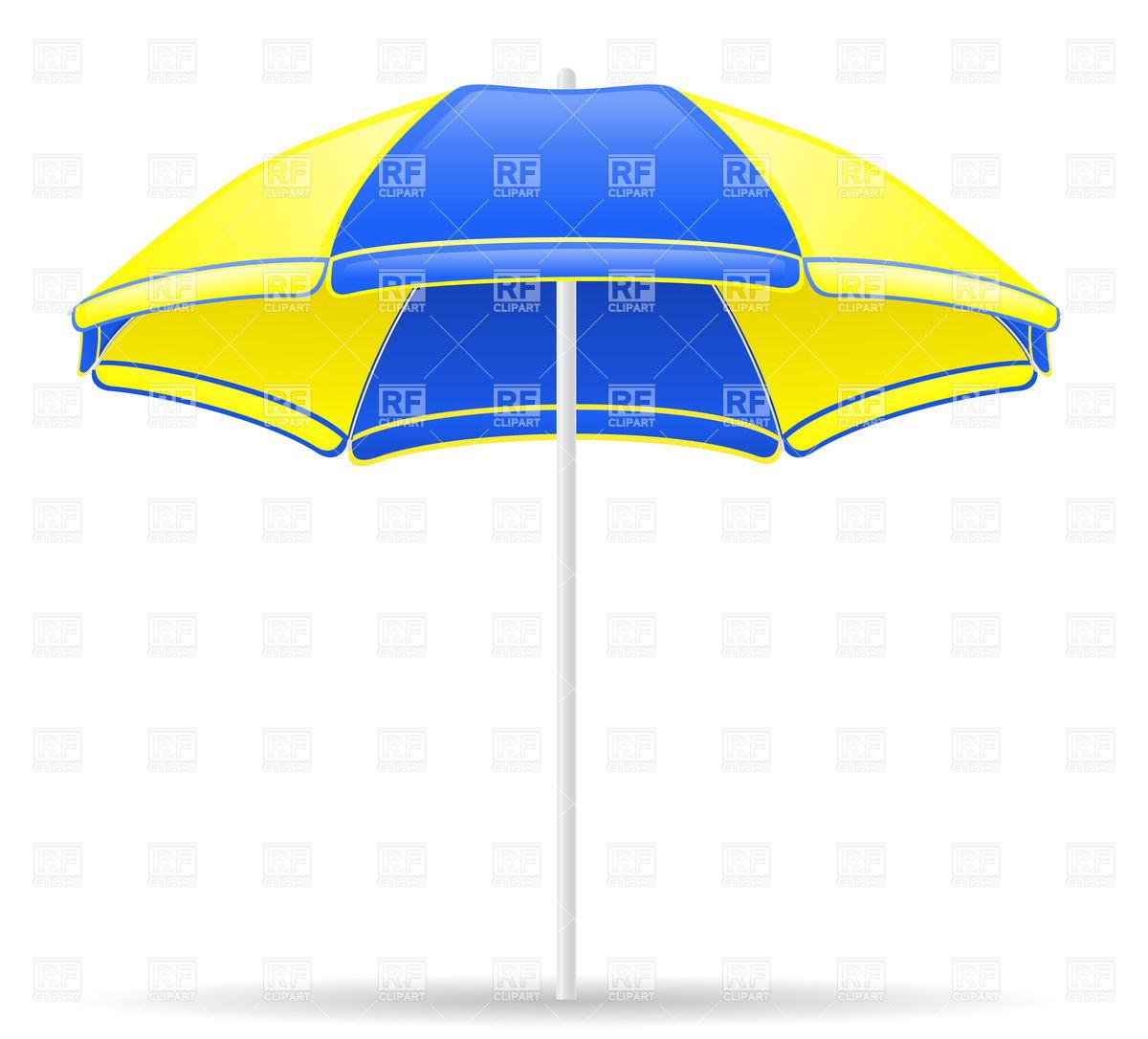 1200x1086 Yellow And Blue Beach Umbrella Vector Image Vector Artwork Of