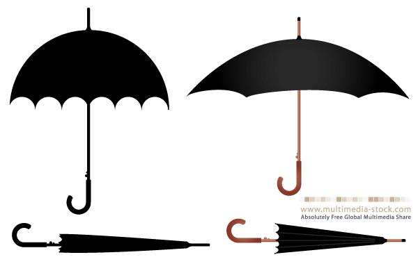 600x380 Free Umbrella Vector Set 123freevectors
