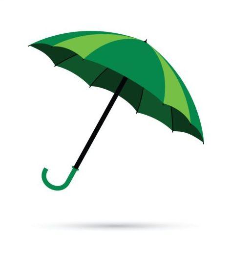 473x539 Green Umbrella Vector Illustration Free Download