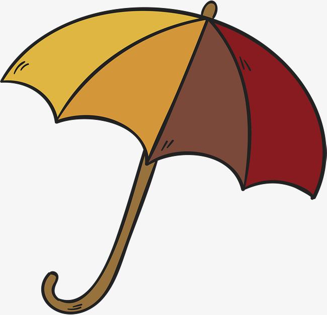 650x628 Hand Drawn Striped Umbrella, Hand Vector, Umbrella Vector, Vector