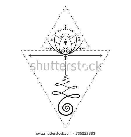 450x470 Logo Tattoo Vector Lotus Tattoo Unalome Sacred Geometry Symbol Of