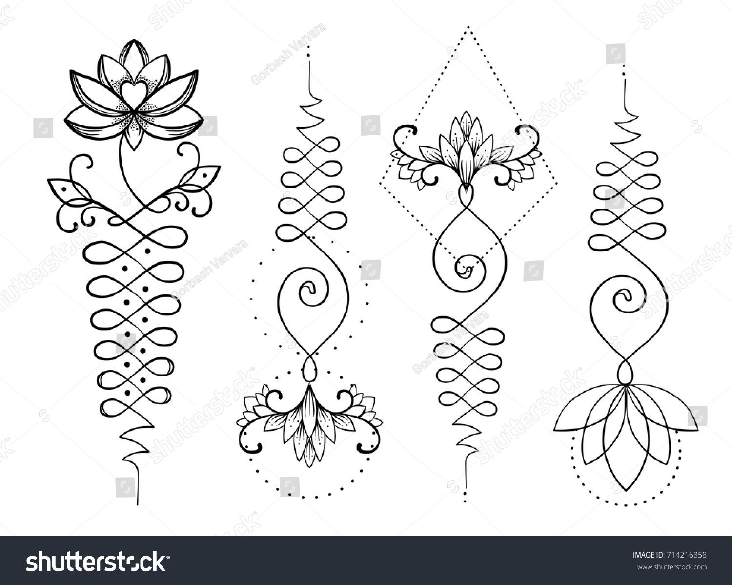 1500x1198 Stock Vector Lotus And Sacred Geometry Unamole Hindu Symbol Of
