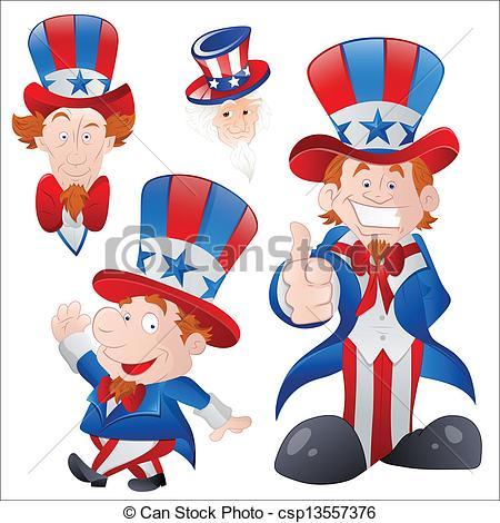 450x470 Set Of Cartoon Uncle Sam. Drawing Art Of Cartoon Uncle Sam