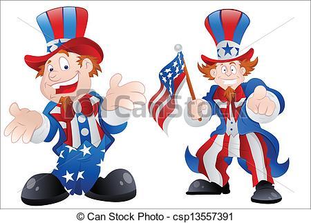 450x323 Set Of Happy Uncle Sam. Drawing Art Of Cartoon Happy Uncle Sam