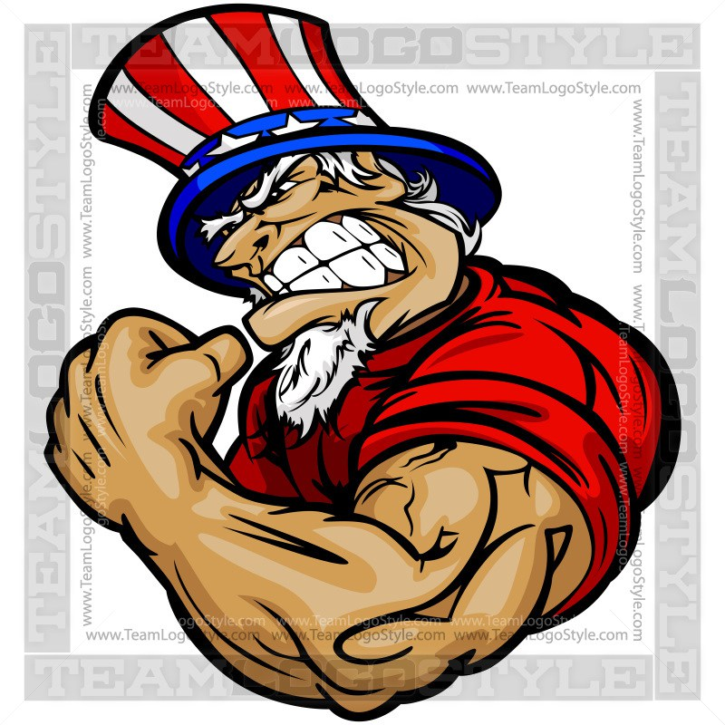 800x800 Strong Uncle Sam Cartoon