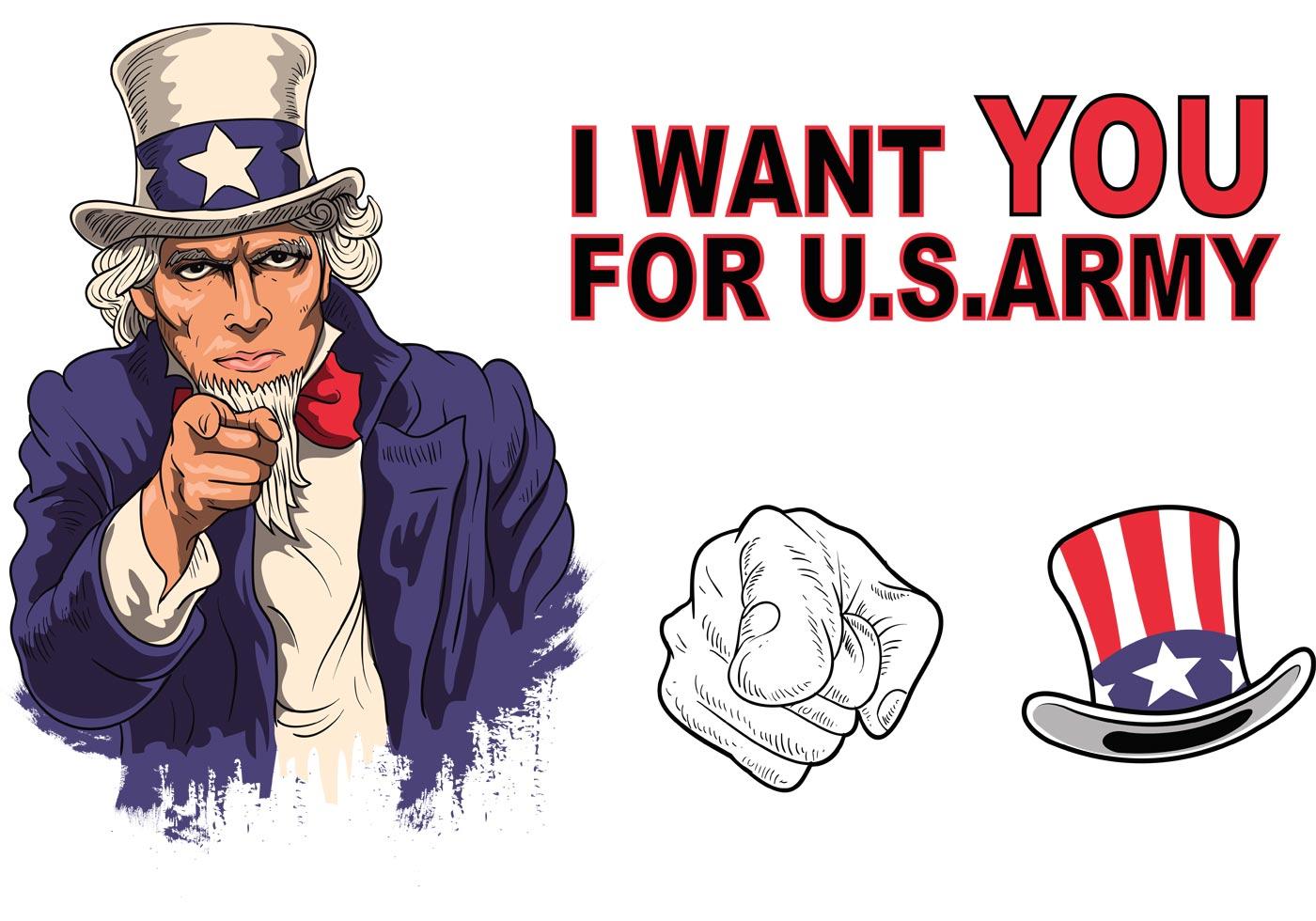 1400x980 Uncle Sam Free Vector Art