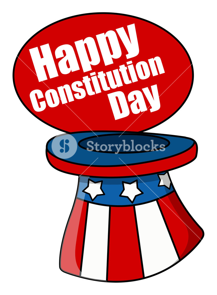 735x1000 Uncle Sam Hat Constitution Day Vector Illustration Royalty Free