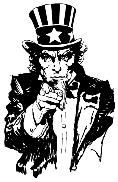 391x600 Uncle Sam Pointing Clipart, Vector Clip Art Online, Royalty Free