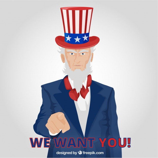 624x626 Uncle Sam Pointing Vector Free Download