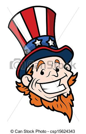 303x470 Happy Uncle Sam Cartoon Face. Drawing Art Of Happy Uncle Sam