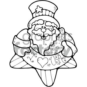 300x300 Royalty Free Vector Art Patriotic Uncle Sam 010 Bw 404708 Vector