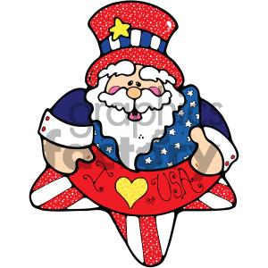300x300 Royalty Free Vector Art Patriotic Uncle Sam 010 C 404714 Vector