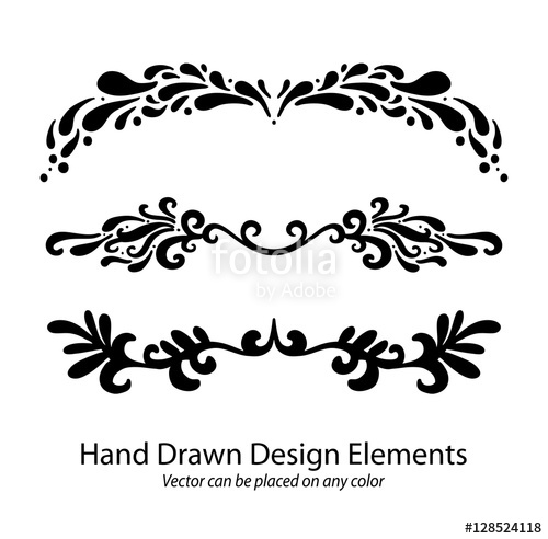 500x492 Vector Design Elements, Hand Drawn Paragraph Or Text Underline