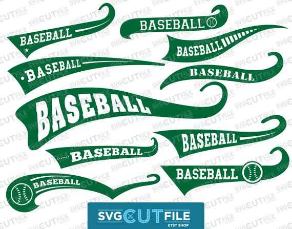 570x447 Baseball Swoosh Text Tail Svg Swash Swish Underline Vector Etsy