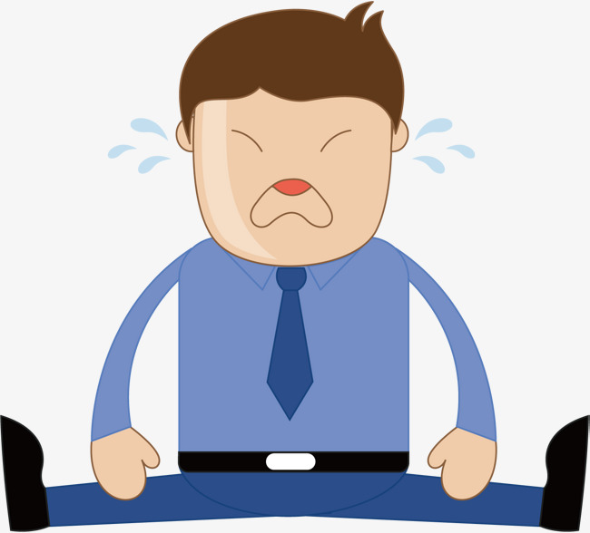 650x588 Sad Unemployed Man, Man Vector, Man Clipart, Cartoon Crying Face