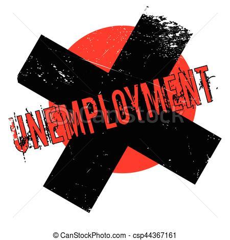 450x470 Unemployment Rubber Stamp. Grunge Design With Dust Scratches