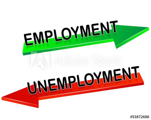 500x397 Unemployment, Employment