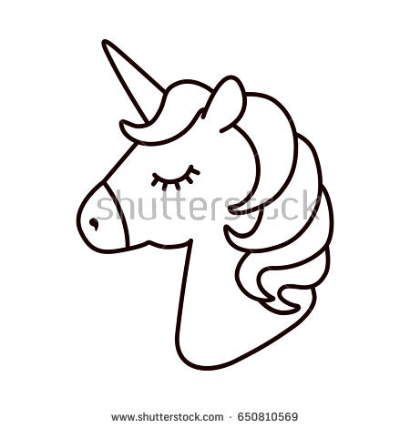 Unicorn Head Vector