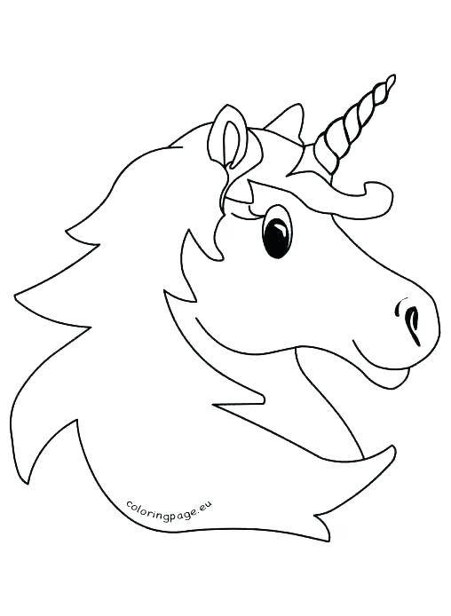 508x694 Unicorn Head Coloring Pages Unicorn Head Coloring Pages Head