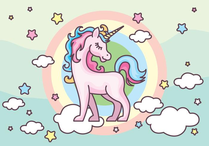 700x490 Unicorn Vector Illustration