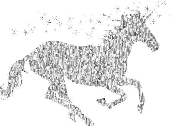 600x442 Magical Unicorn Vector Illustration With Gemstone Style Free