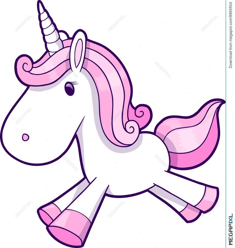 757x800 Pink Unicorn Vector Illustration 9965504