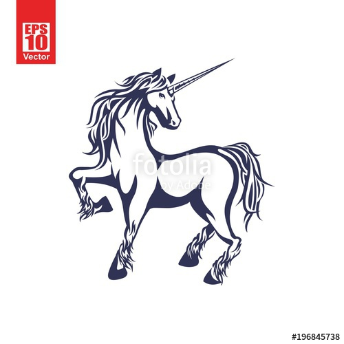 500x500 Unicorn Vector Illustration Stock Image And Royalty Free Vector