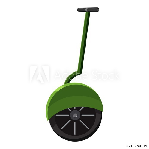500x500 Solo Wheel Unicycle Icon. Cartoon Illustration Of Solo Wheel