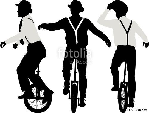 500x381 Man Riding A Unicycle