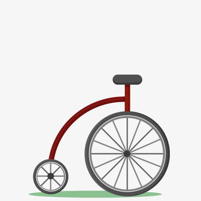 650x650 Hand Painted Bicycle Unicycle Vector Material, Bicycle Vector