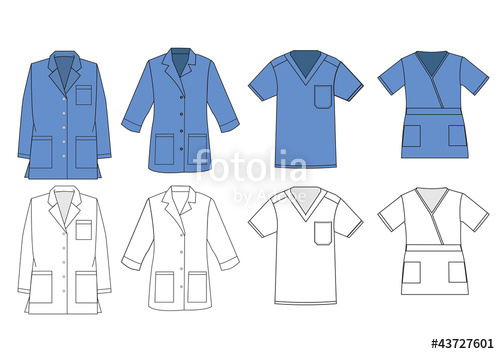 500x354 Medical Shirt Uniform Vector Template. Stock Image And Royalty