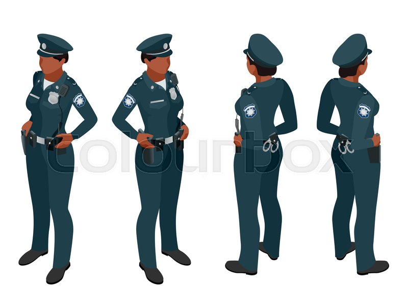 800x599 Police Woman In Uniform. Police Woman Icon. Police Woman Vector