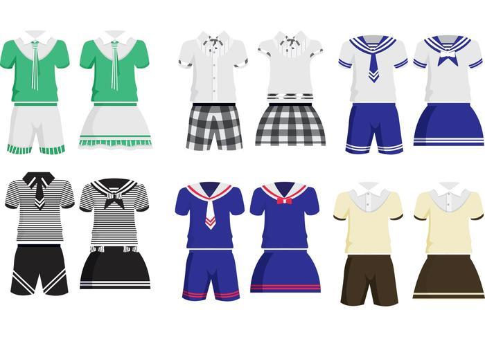 700x490 School Children Uniform Vectors