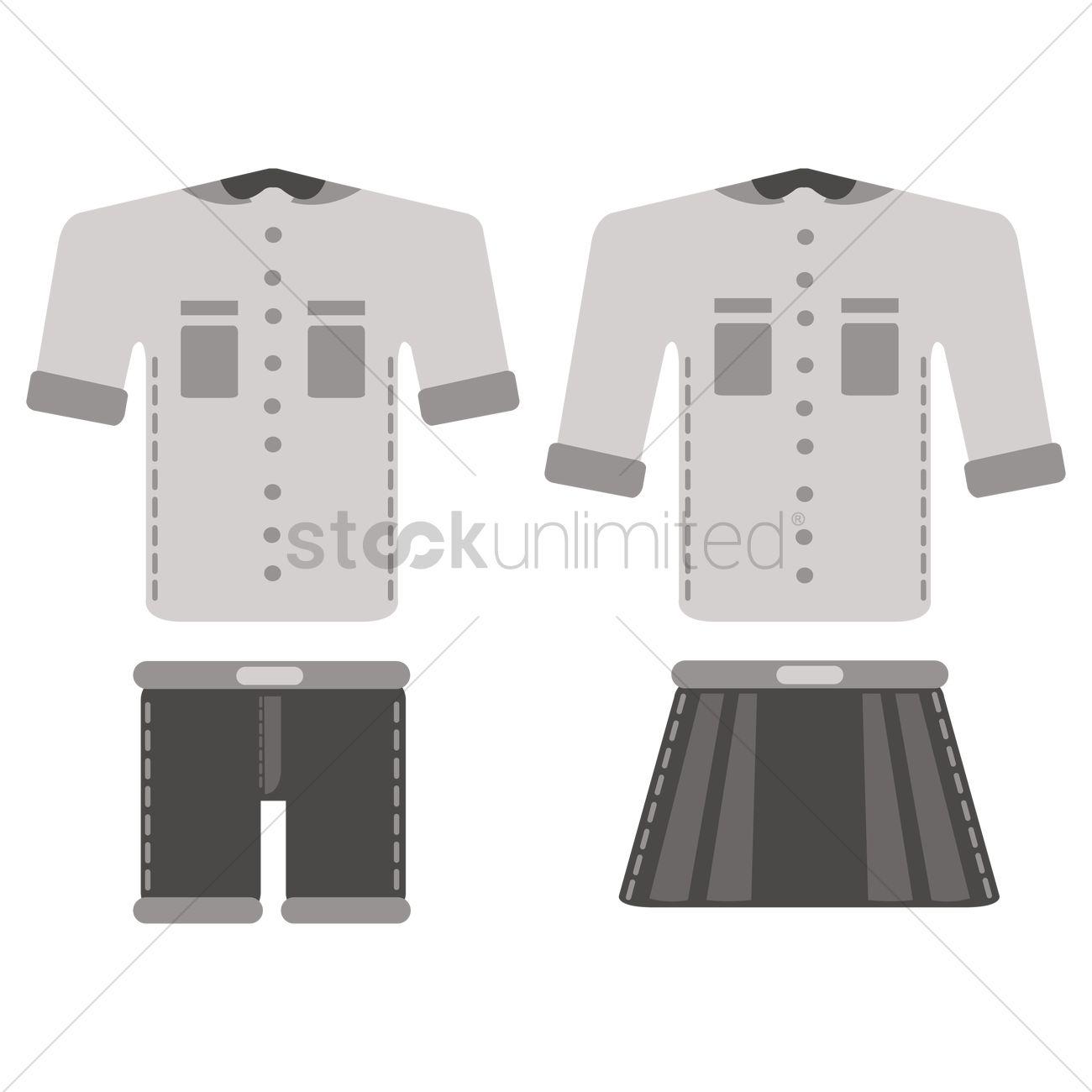 1300x1300 School Uniform Vector Image