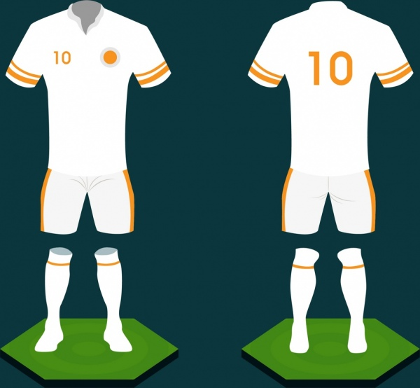 600x554 Soccer Uniform Design White Design 3d Sketch Style Free Vector In