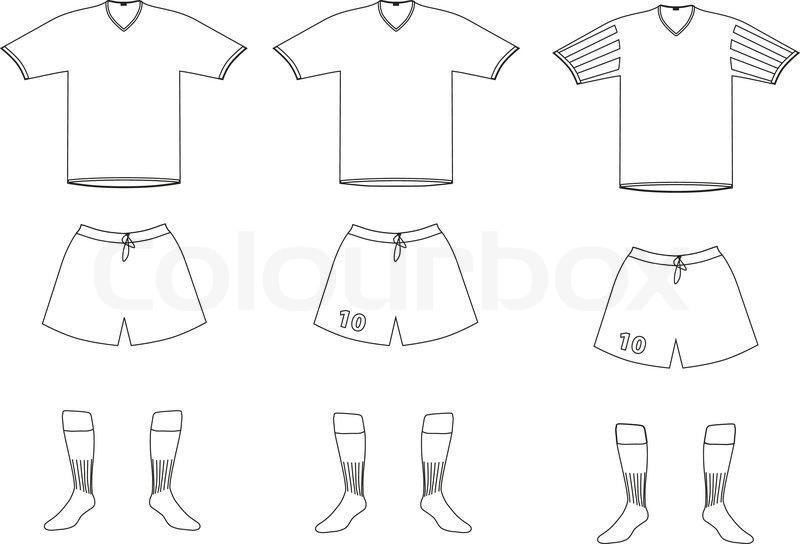 800x544 Vector Soccer Player Uniform Stock Vector Colourbox