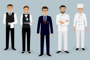 300x200 Waiter Uniform Royalty Free Vectors