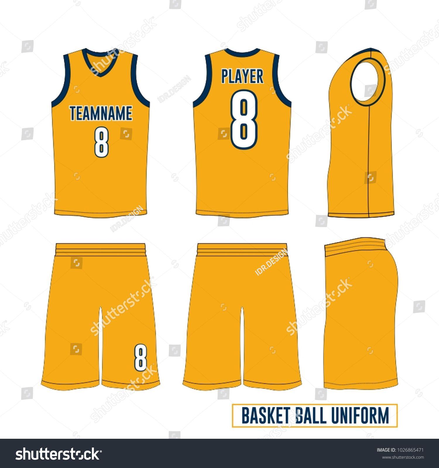 1500x1600 Basketball Uniform Vector Template Basketball Uniform