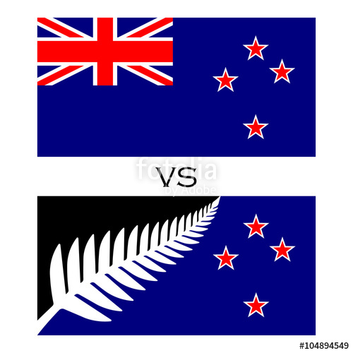 500x500 Flags With Silver Fern Union Jack. Two Flag With Silver Fern And