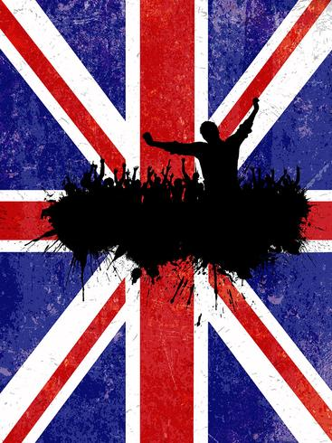 367x490 Grunge Party Background With Union Jack Flag