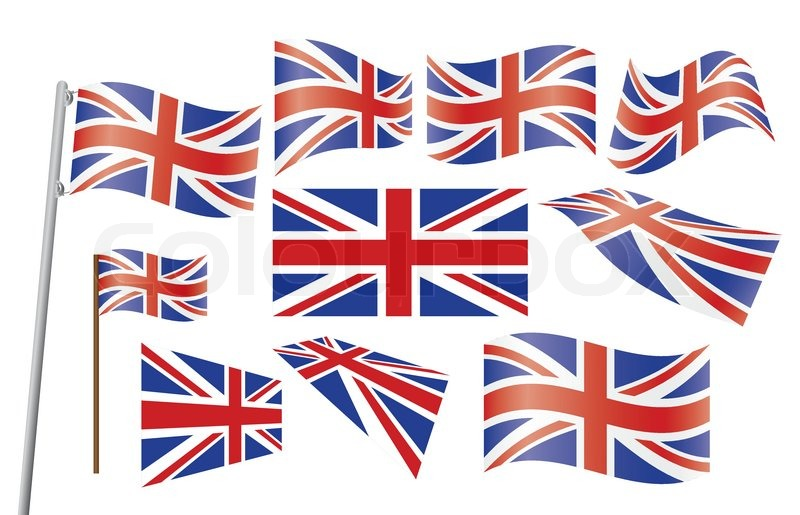 800x515 Set Of Union Jack Flags Vector Illustration Stock Vector Colourbox