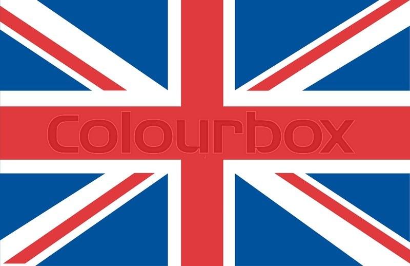 800x518 Uk Flag Union Jack Stock Vector Colourbox
