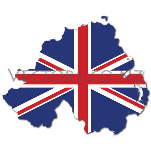 300x300 Uk Flag Vector Map Of Northern Ireland Union Jack Vector Maps