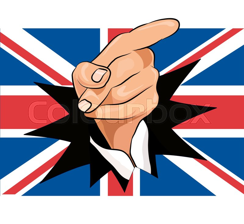 800x736 Brexit Hand And Union Jack Stock Vector Colourbox