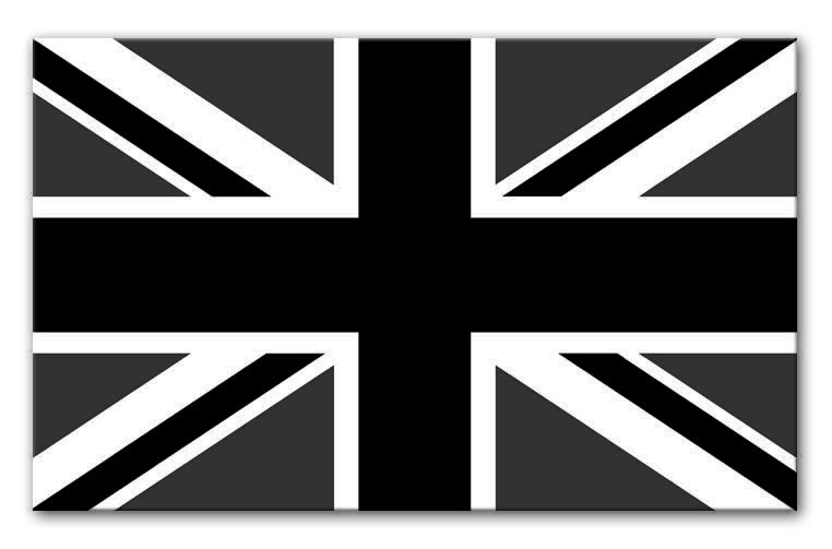 762x503 Union Jack Black And White Canvas