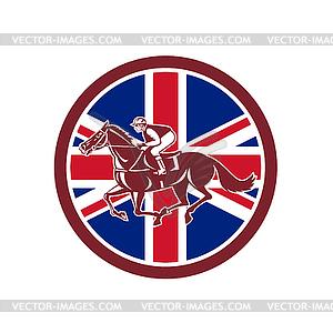 300x300 British Jockey Horse Racing Union Jack Flag