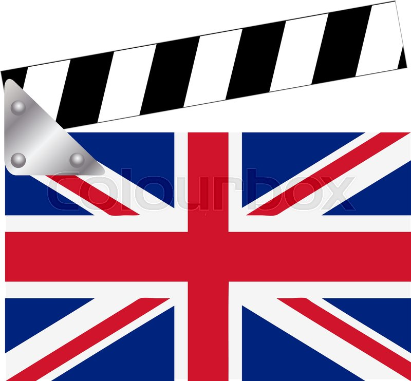 800x742 Clapper Board With Union Jack Stock Vector Colourbox