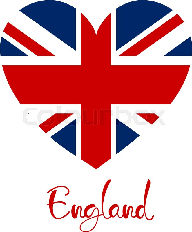 662x800 Britain England United Kingdom Flag Heart Shape Isolated Stock