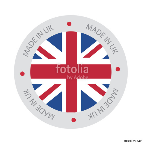 500x500 Made In Uk, United Kingdom Flag (Vector Art) Stock Image And